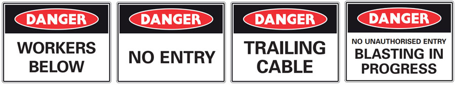 warning and danger signs